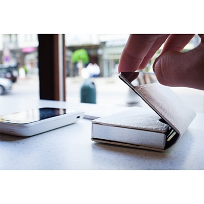 DAZE business card case,  white