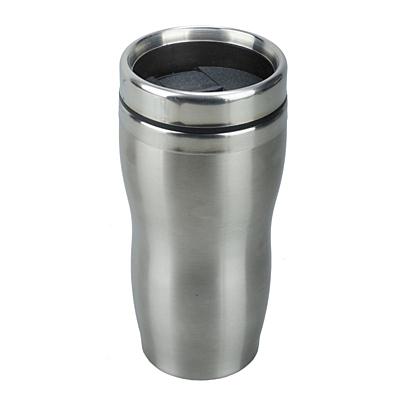 SUDBURY thermo mug 380 ml,  silver/black