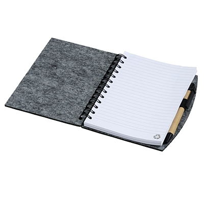 ECO SENSE felt notebook,  grey
