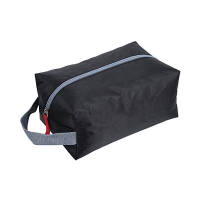 TRAVELBUDDY cosmetic bag,  black/grey