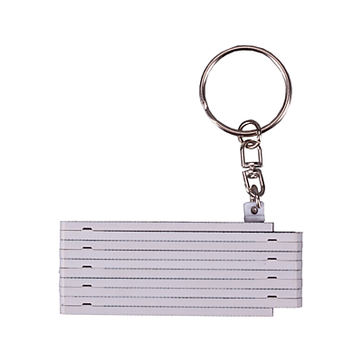 ZIGZAG key ring with tape measure 0,5 m, white