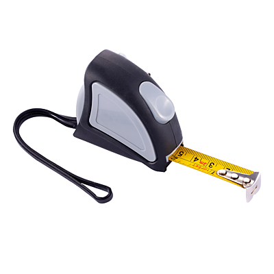 PINPOINT tape measure 3 m, grey