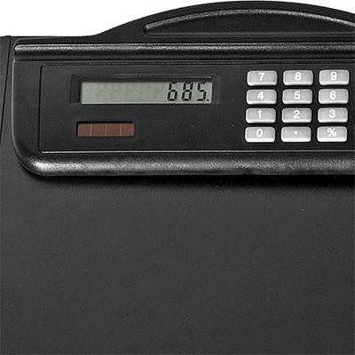 MEETINGMATE writing pad with calculator,  black