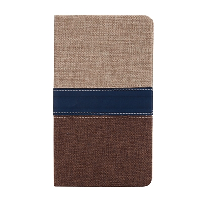 BILBAO notebook with squared pages 105x180 / 160 pages,  brown/beige