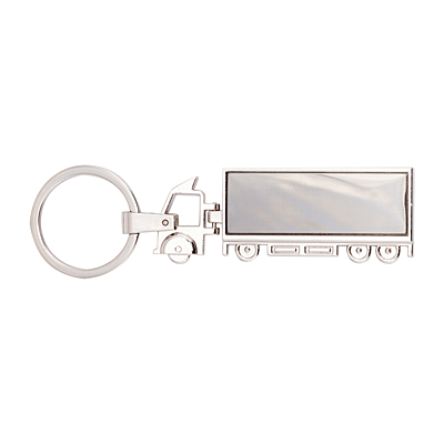 TRUCK&TRAILER metal key ring,  silver
