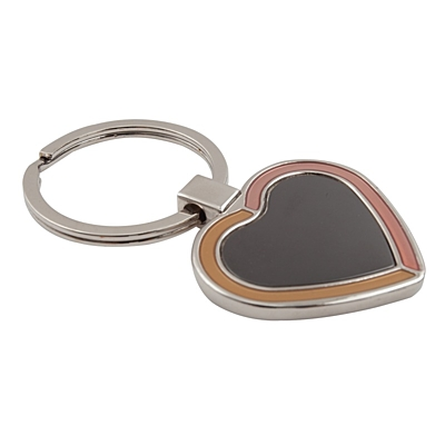 BRAVE HEART key ring,  black/silver