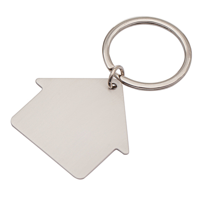 MI CASA metal key ring,  silver
