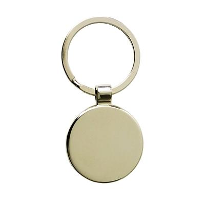 GLOBE RING metal key ring,  silver/blue
