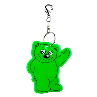 BEARY reflective key ring