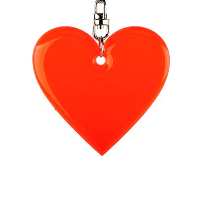 AFFECTION reflective key ring,  red