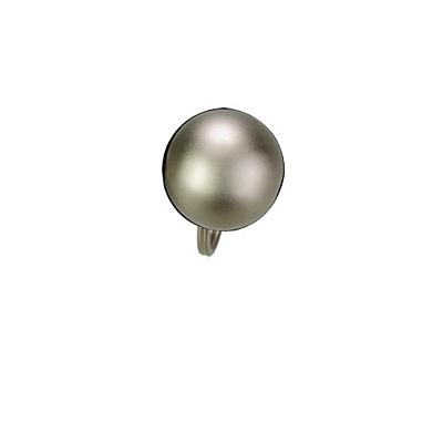 OLD metal key ring,  silver
