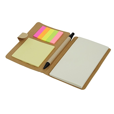 TREE set of sticky notes and notebook,  brown