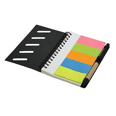 FRAGA set of sticky notes and notebook,  black