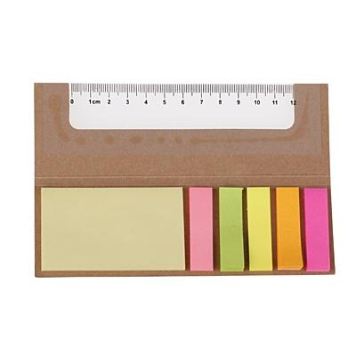 MEMO RULER set of sticky notes,  brown