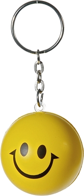 HAPPY RING anti-stress toy key ring,  yellow