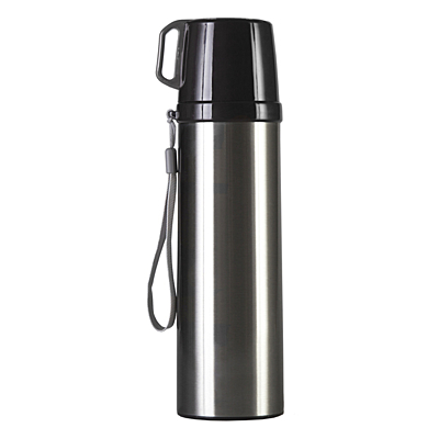 PICNIC PAL thermos with mug 600 ml,  silver