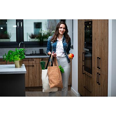 ALMADA cork shopping bag, beige