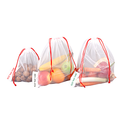 SHOPPING FRIEND set of food bags, white