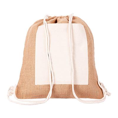 ECO PURE jute backpack, brown