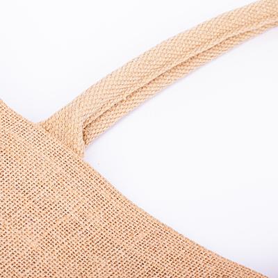NATURAL SHOPPER laminated shopping bag from jute, beige