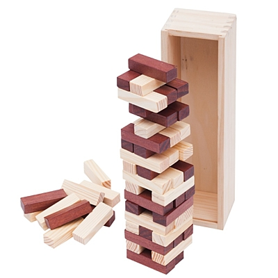 TOWER wooden game,  brown