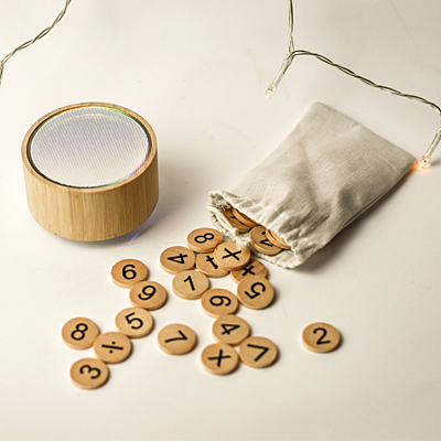 COUNT-ME-IN math wooden set, beige