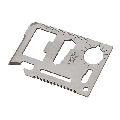 CREDIT multi-purpose tools in the form of a credit card,  silver