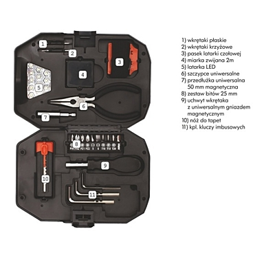 SMART DIY tool set,  black/red