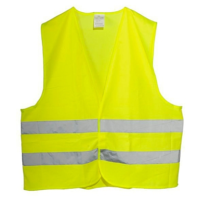 SAFETY L reflective vest,  yellow