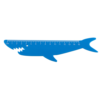 SHARKY ruler,  blue
