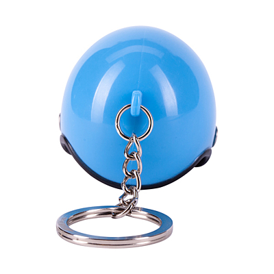 RIDER metal key ring, blue