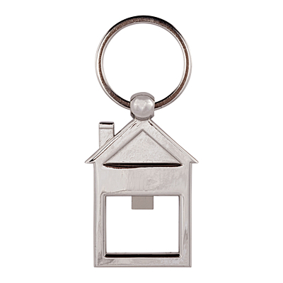 OPEN key ring,  silver