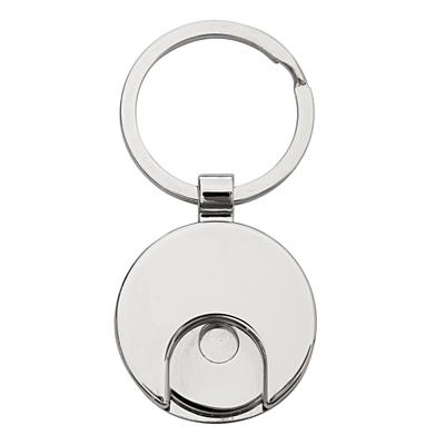 SHOPPING SPREE metal key ring with token,  black