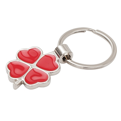 CLOVER LUCK metal key ring