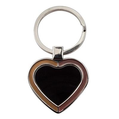 BRAVE HEART key ring,  black/silver