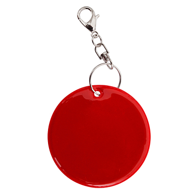 REFLECT RING reflective key ring,  red