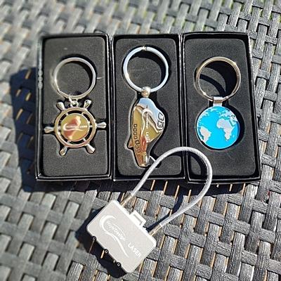 AVION metal key ring,  silver