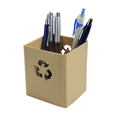RECOVER pen holder,  brown