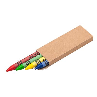 WAX set of wax crayons,  brown