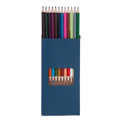 DUO set of crayons,  dark blue