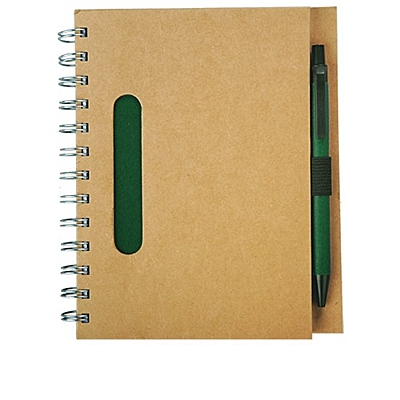 ECO  notebook with clean pages 150x175 / 140 pages with pen
