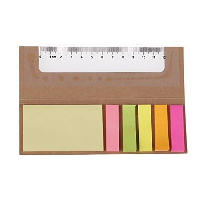 MEMO RULER set of sticky notes,  brown