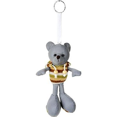 TEDDY reflective key ring,  grey