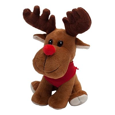 HAPPY REINDEER cuddly toy, brown