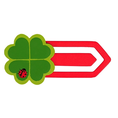 CLOVER BOOK bookmark,  red/green