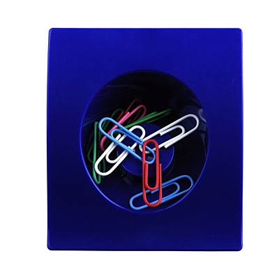 CLIP-IT paperclip stand,  blue