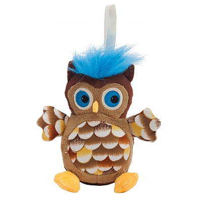 OWL plush toy,  brown