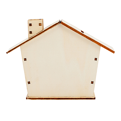 HOUSY wooden money bank, beige