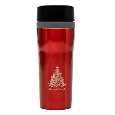 WINNIPEG thermo mug 350 ml with christmas motive, maroon