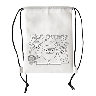 MERRY XMAS non-woven backpack, white